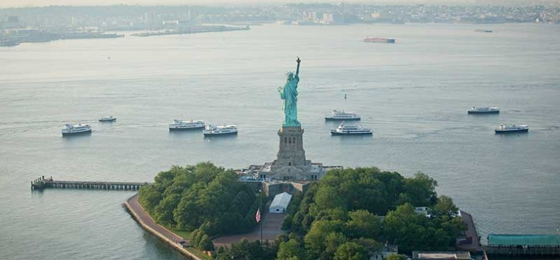 formation of the statue of liberty